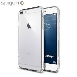 Protect your iPhone  6S Plus / 6 Plus with the unique Ultra Hybrid crystal clear bumper from Spigen. Complete with a clear back and air cushion technology to show of and protect your iPhone's sleek modern design.