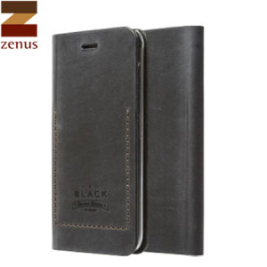 This black coloured Tesoro leather Diary Wallet Case from Zenus is specially designed for the Samsung Galaxy Note 4 and is styled to give you that retro vintage look.