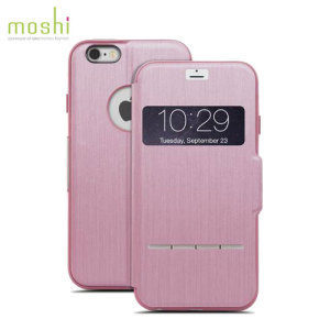 The Moshi SenseCover for the iPhone 6S Plus / 6 Plus in pink is a unique case with a touch sensitive cover that allows you to quickly view the time/date as well as answering calls without the need to open the case.