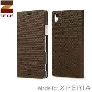 The Metallic Diary Case from Zenus in bronze is an ultra thin flip case, that integrates beauty and functionality with the Xperia Z3.