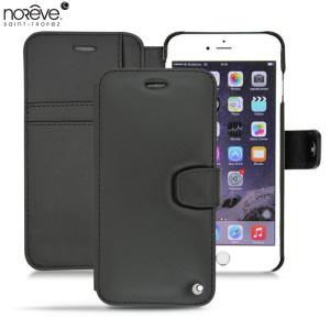 Keep your Apple iPhone 6S Plus / 6 Plus well protected from damage with this high quality, beautifully crafted genuine black leather case from Noreve.