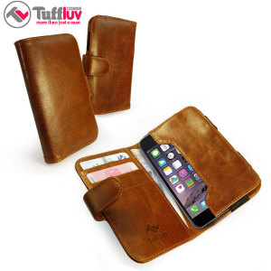 Tuff-Luv Alston Craig Leather iPhone 6S / 6 Wallet Pouch Case - Brown