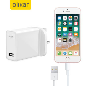 Charge your Apple iPhone 6 quickly and conveniently with this compatible 2.5A high power charging kit. Featuring mains adapter with Lightning connection cable. It's also fully compatible with iOS 7 and 8, so no annoying warnings.