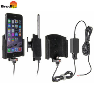 Charge and use your iPhone 7 / 6 in your vehicle with the Brodit active holder with tilt swivel.