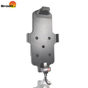 Cargue y use su iPhone 6S Plus /6 Plus en su vehículo con el soporte de coche Brodit compatible con fundas con soporte pivotante.