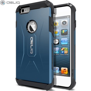 The Obliq Xtreme Pro Dual Layered Tough Case in blue is a hybrid ergonomic protective case for the iPhone 6S / iPhone 6, providing fantastic shock absorption without adding excessive bulk.