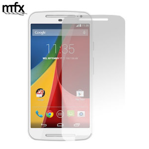 Keep your Moto G 2nd Gen's screen in pristine condition with this MFX 5-in-1 scratch-resistant screen protector pack.