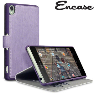 Protect your Sony Xperia Z3 with this slim, durable and stylish purple leather-style wallet case. What's more, this case transforms into a handy stand to view media.