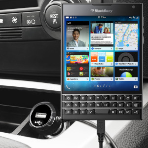 Keep your BlackBerry Passport fully charged on the road with this high power 2.4A Car Charger, featuring extendable spiral cord design. As an added bonus, you can charge an additional USB device from the built-in USB port!