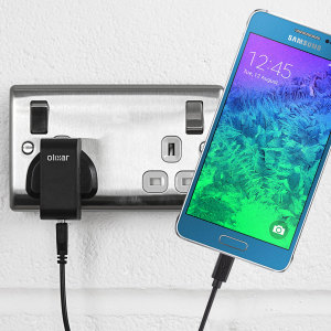 Charge your Samsung Galaxy Alpha quickly and conveniently with this compatible 2.4A high power charging kit. Featuring mains adapter and USB cable.