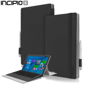 The high quality Roosevelt Slim Folio case from Incipio houses your Microsoft Surface Pro 3 tablet, providing protection and access to your ports and features while incorporating a built-in viewing stand - in black.