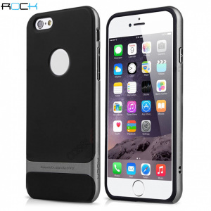 Featuring a hybrid combination of soft touch TPU casing with a polycarbonate reinforcing frame, this grey ROCK Royce case is a stylish protective complement to your iPhone 6S Plus / 6 Plus.