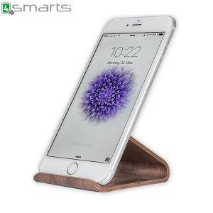 4smarts Smartphone Wooden Stand - Dark