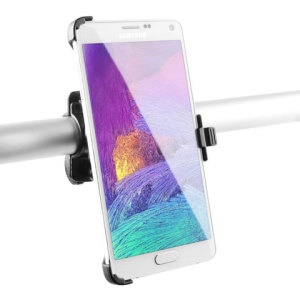 Ideal for navigation and listening to your music, this bike mount kit offers an easy to install and secure mounting solution for your Galaxy Note 4 on a bike.