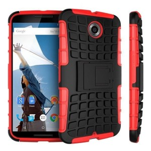 Protect your Google Nexus 6 from bumps and scrapes with this red Encase ArmourDillo case. Comprised of an inner TPU case and an outer impact-resistant exoskeleton, the ArmourDillo provides robust protection and supreme styling.