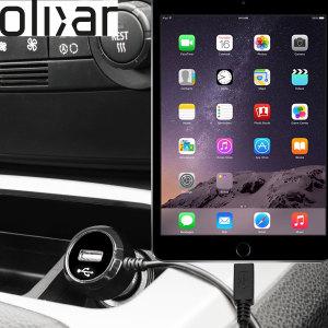 Håll din iPad Mini 3 fullt laddad på vägen med den 2.4 A billaddaren som har en utsträckbar spiralsladds-design. Som en extra bouns kan du ladda en extra USB-enhet från den inbyggda USB-porten.