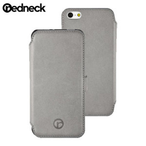 Funda cuero tipo cartera para iPhone 5S/ 5 Redneck Seasonal - Gris