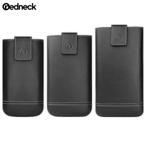 Redneck Genuine Leather Universal Smartphone Pouch M - Black