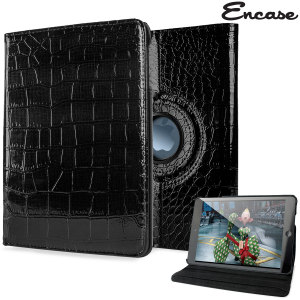 A lightweight black leather-style case with alligator pattern design. Offering perfect protection for your iPad Mini 3 / 2 / 1 while also offering a unique look and feel.
