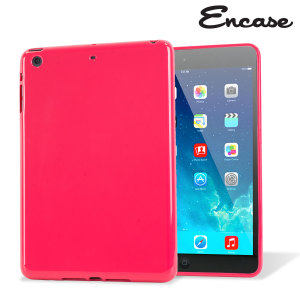 This hot pink FlexiShield from Encase for the iPad Mini 3 / 2 / 1 provides crystal case-like protection with the durability of a silicone case.