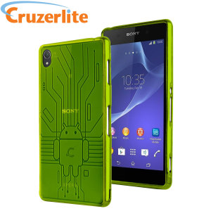 Keep your Sony Xperia Z3 protected from damage with this Android-circuitry inspired, durable green coloured TPU case by Cruzerlite.