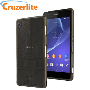 Keep your Sony Xperia Z3 protected from damage with this Android-circuitry inspired, durable smoke black coloured TPU case by Cruzerlite.