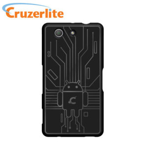 Keep your Sony Xperia Z3 Compact protected from damage with this Android-circuitry inspired, durable black coloured TPU case by Cruzerlite.
