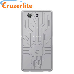 Keep your Sony Xperia Z3 Compact protected from damage with this Android-circuitry inspired, durable clear coloured TPU case by Cruzerlite.
