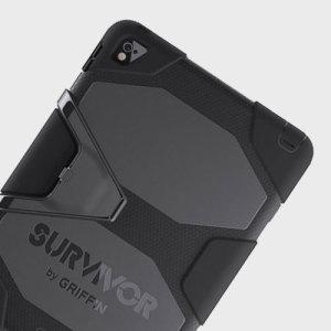 Polvo, lluvia, tormentas, cascadas ... no importan los retos a los que la vida os enfrente a ti y a tu iPad. La funda Griffin Survivor para el iPad Air 2 está preparada para todo.