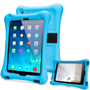 Let your child use your iPad 9.7 2017 / Pro 9.7 / iPad Air 2 / Air without worrying with the extremely robust and fun Olixar Child-Friendly Silicone Case in blue. With anti-shock corners the Big Softy protects against the rigours of everyday use.