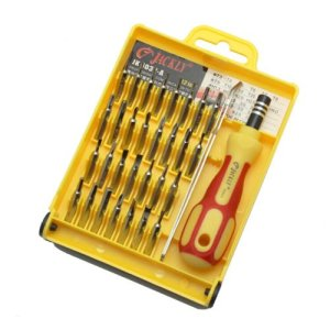 If you have a mobile device that needs some maintenance or repair, here's a fantastic set of precision tools for you. Featuring a magnetic screwdriver, 30 screw bits with a complete range of heads and needle nosed tweezers.