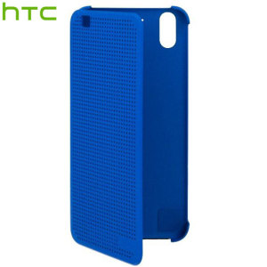 Keep your case closed and still receive notifications with the official HTC Desire Eye Dot View case in imperial blue. Featuring full front and rear protection.