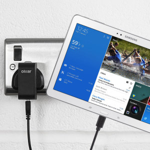 Charge your Samsung Galaxy Tab Pro 12.2 quickly and conveniently with this compatible 2.5A high power charging kit. Featuring mains adapter and USB cable.