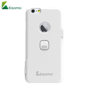The iSelf iPhone 6S / 6 selfie case in white from Kisomo allows you to capture photos your way. Integrated into this protective polycarbonate shell are two intuitively designed camera shutter buttons which let you take photos like never before.