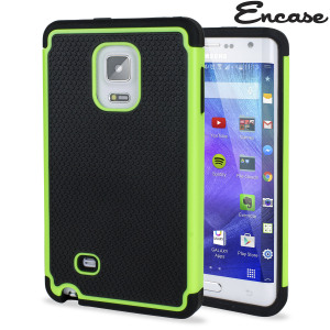 Protect your Samsung Galaxy Note Edge from bumps and scrapes with this green tough case. Comprised of an inner TPU case and an outer impact-resistant exoskeleton, this case provides robust protection and supreme styling.