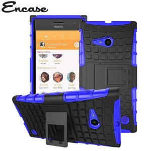 Protect your Lumia 735 from bumps and scrapes with this blue ArmourDillo case. Comprised of an inner TPU case and an outer impact-resistant exoskeleton, with a built in viewing stand. This case is also compatible with the Nokia Lumia 730.