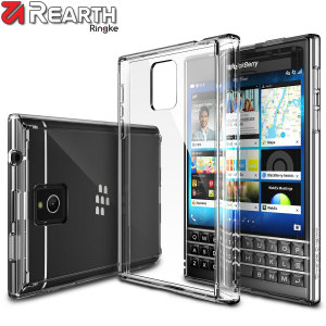 Protect the back and sides of your BlackBerry Passport with this incredibly durable and clear Fusion Case by Ringke.