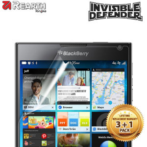 4 pack of multi-Layered Optical Enhanced screen protectors for the BlackBerry Passport.