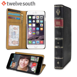Wrap your iPhone 6S / 6 in pure sophistication with the BookBook Wallet Case in black from Twelve South for the iPhone 6S / 6. Made from hand-distressed genuine leather the BookBook case features stunningly good looks and allows you to store cards.