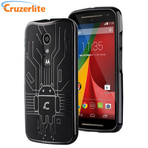Keep your Moto G 2nd Gen protected from damage with this Android-circuitry inspired, durable black coloured TPU case by Cruzerlite.