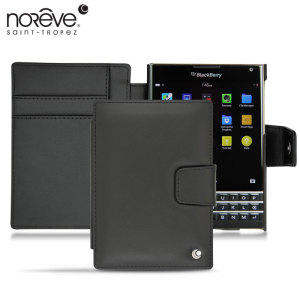 Keep your BlackBerry Passport well protected from damage with this high quality, beautifully crafted genuine black leather case from Noreve.
