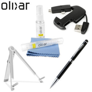 Olixar have assembled some of the most essential tablet accessories for this pack. Featuring a travel cleaning kit, metal prop stand, Lightning / Micro USB keychain and a stylus pen, you'll be sure to have the ultimate tablet experience.