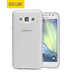 Custom moulded for the Samsung Galaxy A3 2015. This frost white Olixar FlexiShield case provides a slim fitting stylish design and durable protection against damage, keeping your device looking great at all times.