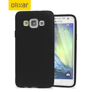 Custom moulded for the Samsung Galaxy A3 2015. This black Olixar FlexiShield case provides a slim fitting stylish design and durable protection against damage, keeping your device looking great at all times.