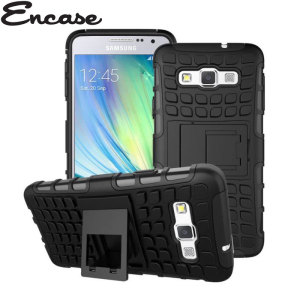 Protect your Samsung Galaxy A3 2015 from bumps and scrapes with this black Encase ArmourDillo case. Comprised of an inner TPU case and an outer impact-resistant exoskeleton, the ArmourDillo provides robust protection and supreme styling.