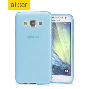 Custom moulded for the Samsung Galaxy A5 2015. This light blue Olixar FlexiShield case provides a slim fitting stylish design and durable protection against damage, keeping your device looking great at all times.