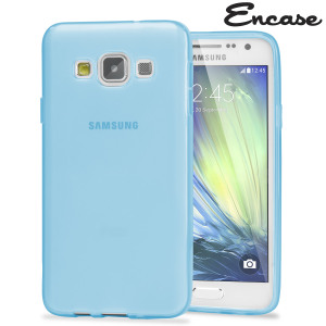 Encase FlexiShield Samsung Galaxy A7 2015 Gel Case - Light Blue