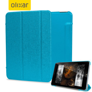 Protect and stand your Nokia N1 Tablet with this blue Stand and Type Case, suitable for viewing movies and typing.