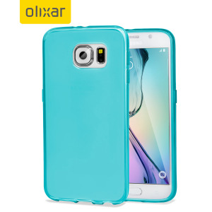 Custom moulded for the Samsung Galaxy S6, this light blue FlexiShield case by Olixar provides slim fitting and durable protection against damage.