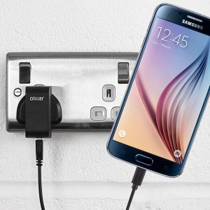 Charge your Samsung Galaxy S6 quickly and conveniently with this compatible 2.4A high power charging kit. Featuring mains adapter and USB cable.